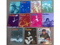 'Guitar' - 11 vintage magazines - 10 from the 1970s and 1 from 1998