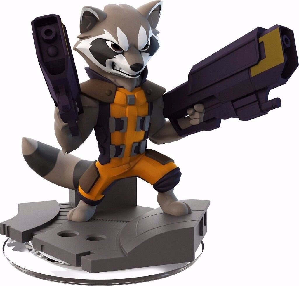Disney Infinity 2.0 Guardians Of The Galaxy Rocket Raccoon Figure