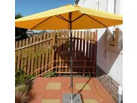 Large Tilting Parasol with Marble Base/Stand (Only used once as it's too big for my patio)