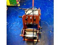 JTM hot foil vintage printing press.