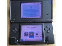 Nintendo DSi Black Console with Camera and Games, Good Condition