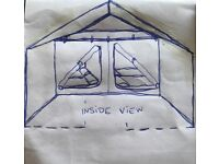 Sturdy family tent and lots of gear. Old but good! Urgent sale