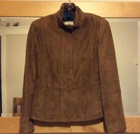 Ladies Next Brown Suede Jacket ( size 8 petite)