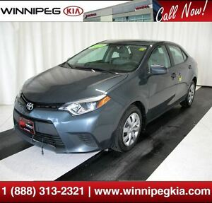 2014 Toyota Corolla S *Local Trade - Always Owned In Manitoba!*