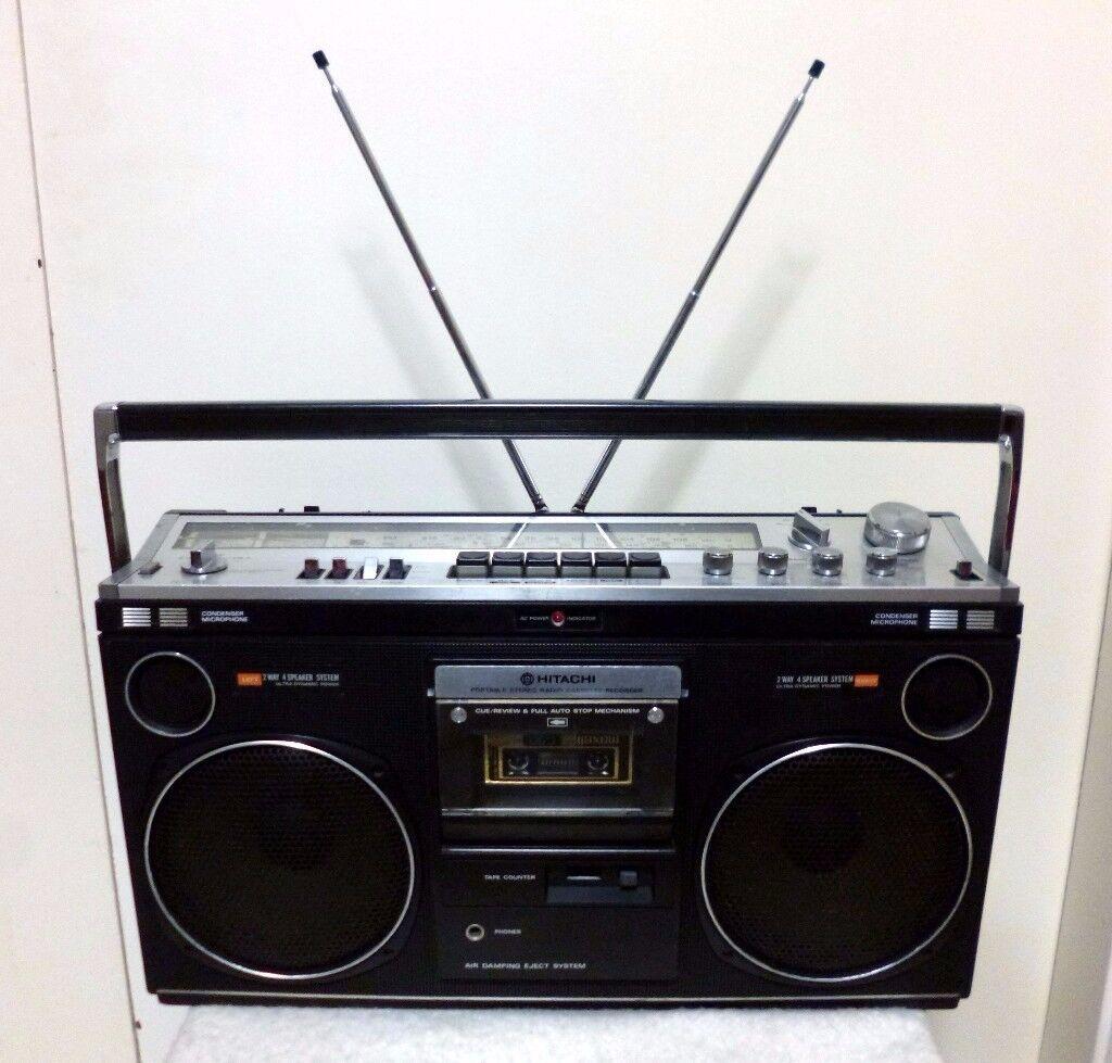 Hitachi TRK-8080E Vintage Boombox Ghetto Blaster