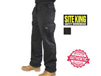 SITE KING Men's Combat Cargo Work Trousers size 32R