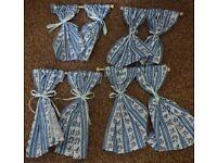 Set of 4 Dolls House Emporium Miniature Curtains with poles £5