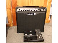 Line 6 Spider 3 III guitar combo amplifier + FBV Express 4 way foot controller - guitar amp + peddle