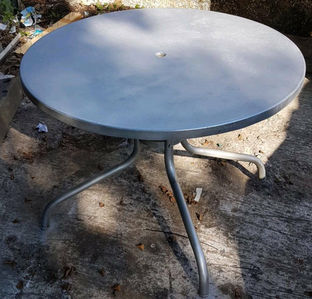 Silver Patio Table