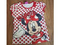 Minnie mouse gliiter top