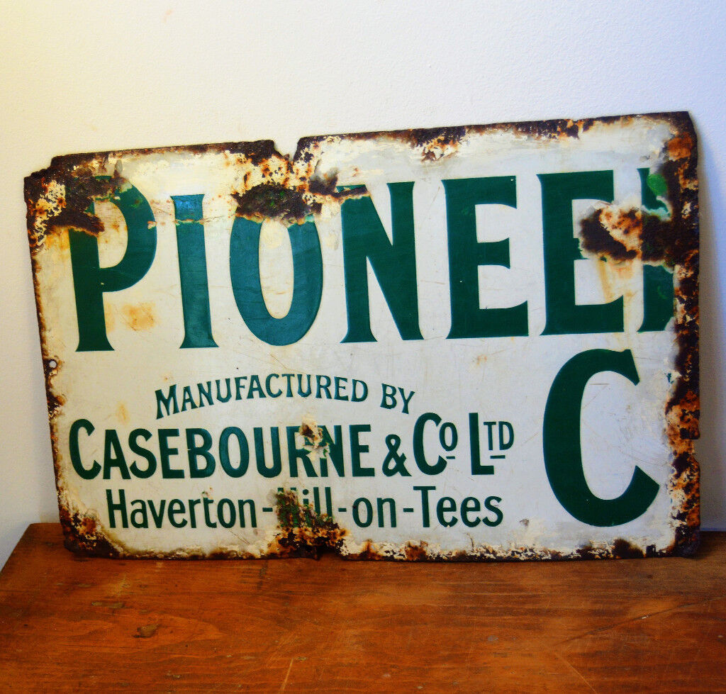 Retro metal Aluminium Sign vintage Man Cave Whitby