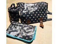 Next oilcloth grey changing bag