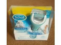 Scholl velvet smooth wet&dry electronic foot pedi