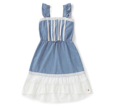NEW MATILDA JANE Tween 435 Barn Dance Tonight Joanna Gaines Blue White Dress 14 - Tween Dance Dresses
