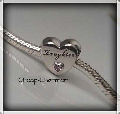 Genuine Pandora Daughter Love Heart Charm ❤ GENUINE & BRAND NEW  ❤ Gift Pouch ❤