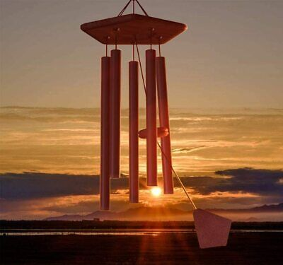 Outdoor Memorial Wind Chime Large Deep Tone Amazing Grace with 6 Aluminum Tubes