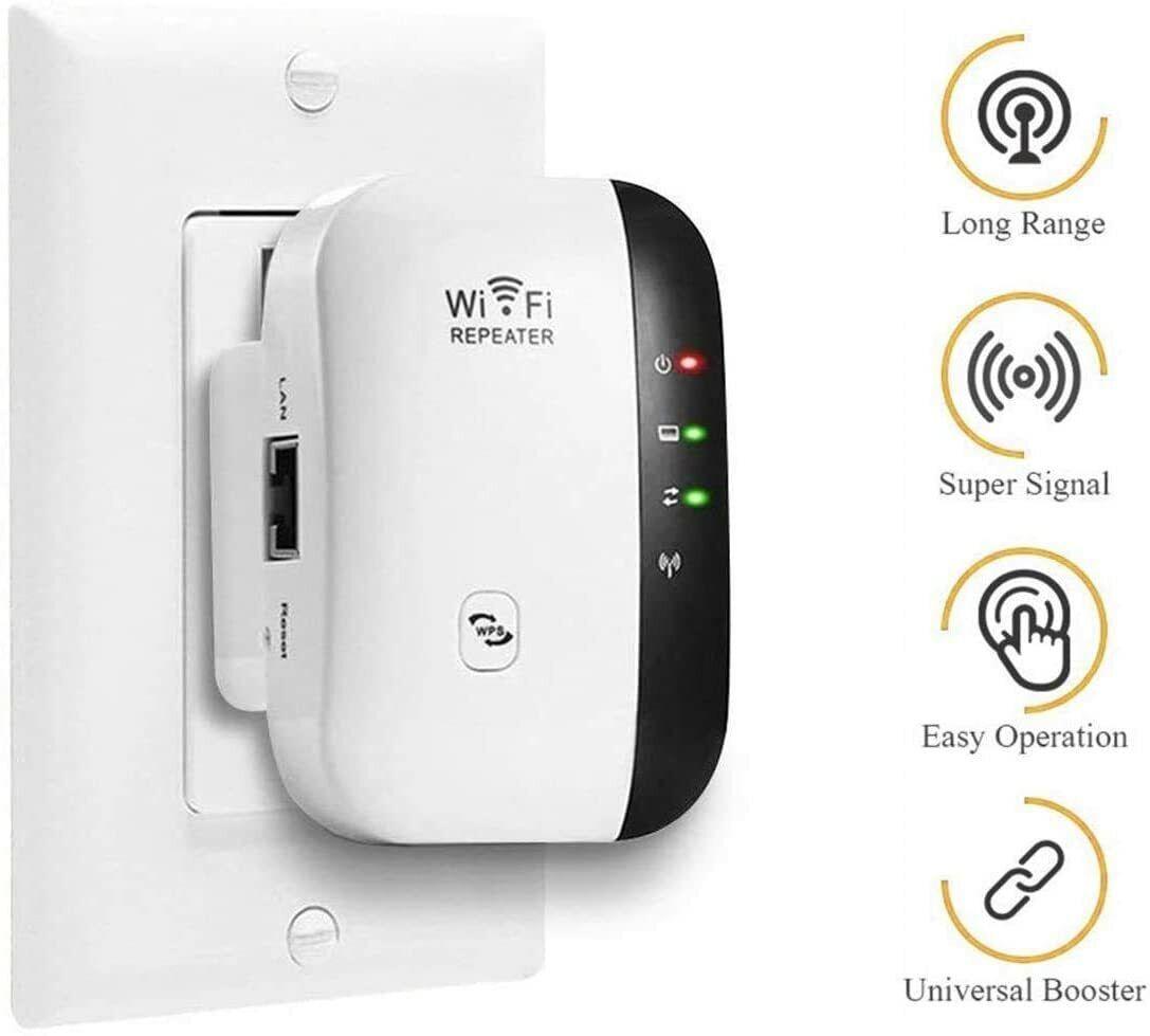 WiFi Range Extender Internet Booster Network Router Wireless