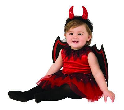 Little Devil Mädchen Kleinkind Süß Rot Demon Tutu Halloween (Kleinkind Halloween Tutu Kostüm)