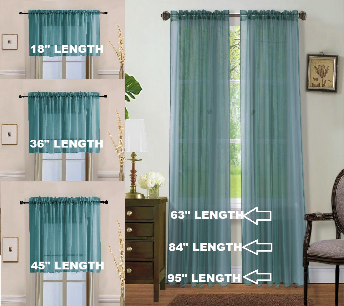 Children S Furniture Home Supplies 2pc Home Decor Voile Sheer Window Rod Pocket Curtain Treatment Panel Slate Blue Home Furniture Diy Corredoresdeaventura Com Py
