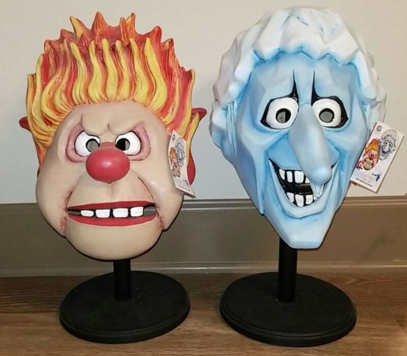 The Year Without A Santa Claus Trick or Treat Studios Snow & Heat Miser Masks