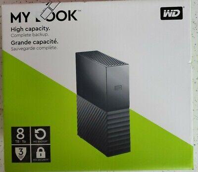 WD 8TB My Book Desktop External Hard Drive, USB 3.0 - WDBBGB0080HBK-NESN New!!