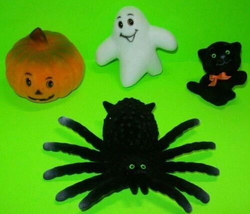 Vintage Halloween 1960s Toys Black Cat Ghost Spider Pumpkin Head NOS Hong Kong