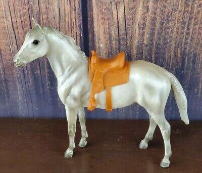 Breyer Molding Co Horse With Saddle White Gray