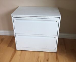 Two drawer legal filing cabinet