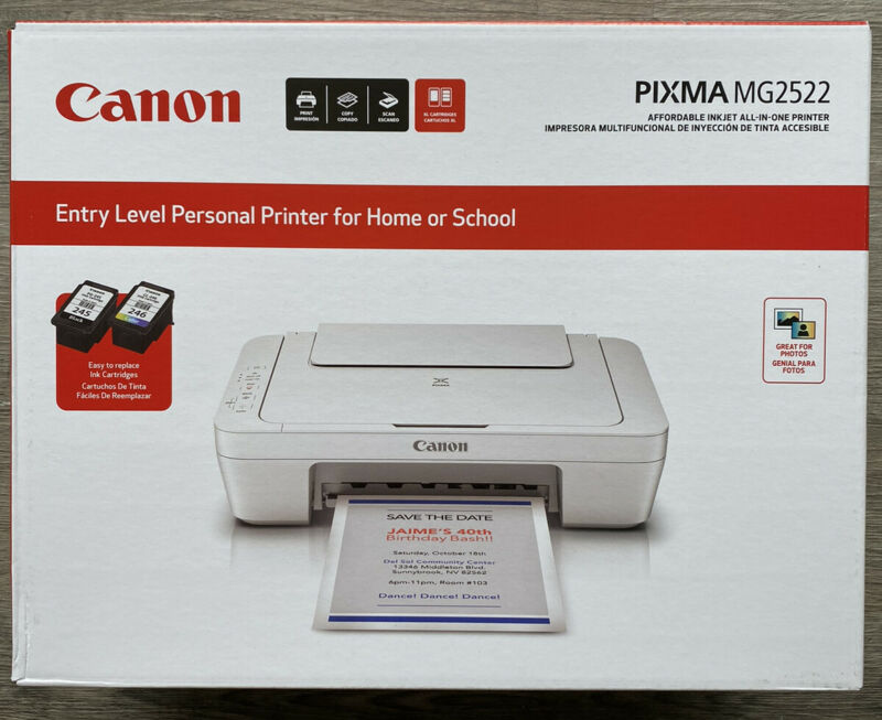 Canon PIXMA MG2522 Wired All-in-One Color Inkjet Printer-INK & CABLE INCLUDED🖨