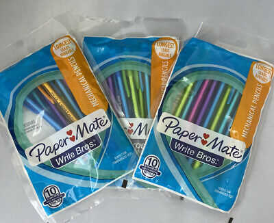 Papermate Mechanical Pencils Write Bros 30 Ct. 3 Packs Of 10 0.7mm Hb 2 New