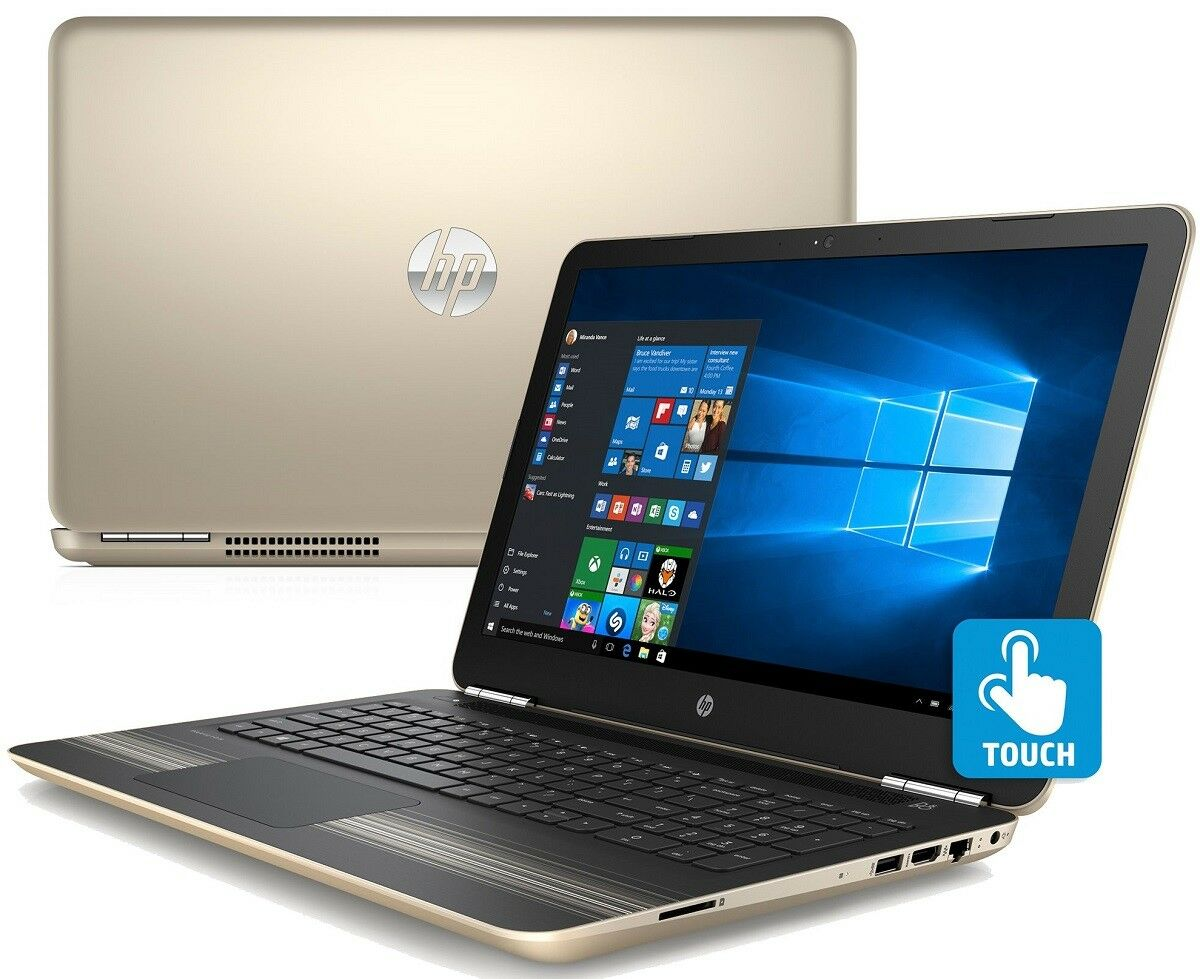 "$367.95 - HP 15.6"" TouchScreen 6GB AMD A9-9410 3.60GHz 1TB DVD+RW WebCam B&O WIN10 Laptop"