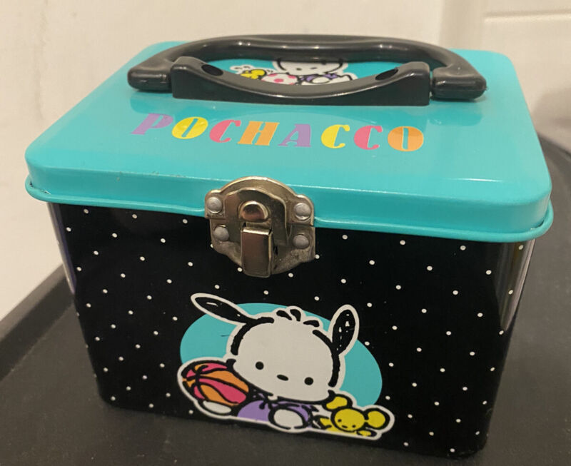 Vintage 1994 Sanrio Pochacco Metal Tin Box VHTF.