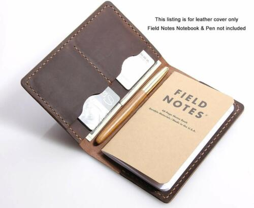 """Leather Journal Field Notes Moleskine Leather Cover 3.5 x 5.5"""" size notebook"""