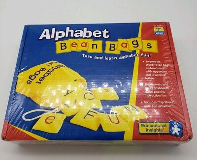 Educational Insights Alphabet Bean Bags Toss and Learn Fun Ages Pre-K + NEW