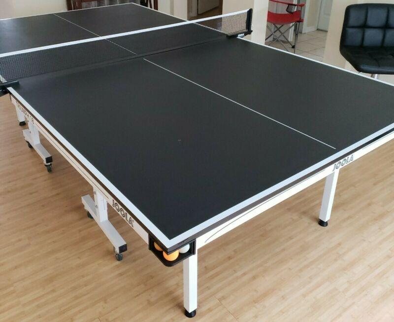 JOOLA Rally Professional Table Tennis Table w Quick Clamp Ping Pong 18mm Top