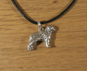 Sheep-Dog-Sterling-Silver-Pendant-Bracelet-Charm-Animal-Cord-Old-English