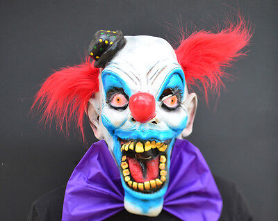Creepy Evil Scary Halloween Clown Mask Rubber Latex CHOMPO CLOWN - Scary Halloween Clowns