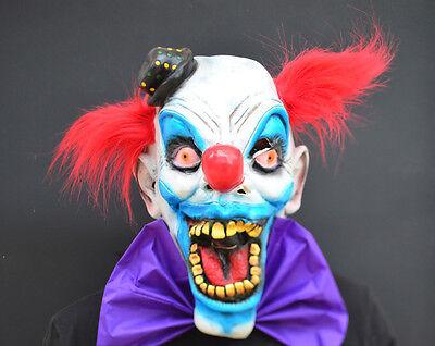 Creepy Evil Scary Halloween Clown Mask Rubber Latex CHOMPO (Rubber Halloween Mask)