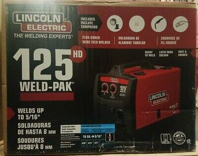 New Lincoln Electric 125 Amp Weld-pak 125 Hd Flux-cored Welder With Magnum 10