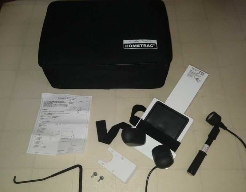 CLEAN-TESTED Saunders Hometrac Cervical Traction Device with Case Neck Pain set