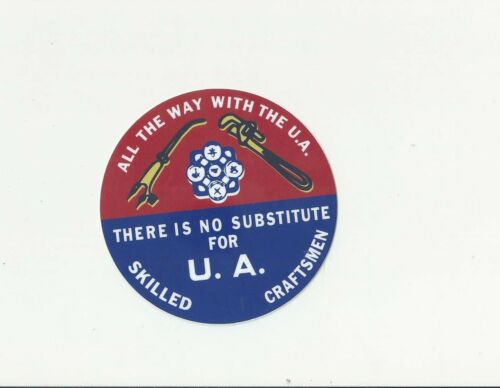 RETRO THROWBACK 60s UA PLUMBER PIPEFITTERS STEAMFITTERS UNION PIPETRADE Sticker