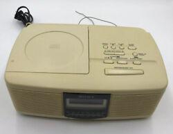 VTG Sony ICF-CD810 Stereo CD Player Digital Dual Alarm Radio AM FM 1996 TESTED