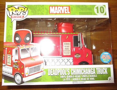 Nycc 2015 Exclusive Funko Pop Deadpools Chimichanga Truck Red Variant 3000 Le