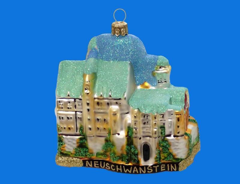 NEUSCHWANSTEIN CASTLE GERMANY EUROPEAN BLOWN GLASS CHRISTMAS ORNAMENT DECORATION