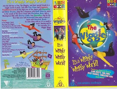 THE WIGGLES ITS A WIGGLY WIGGLY WORLD VHS VIDEO PAL~ A RARE (The Wiggles Its A Wiggly Wiggly World)