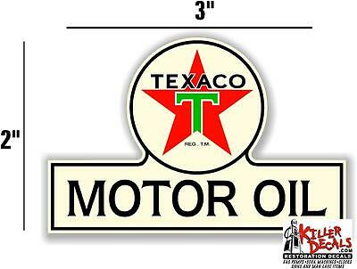 "3"" TEXACO POST WAR OIL BOTTLE DECAL GAS AND OIL PUMP STICKER"
