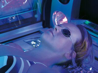 Ergoline Schutzbrille rot Gummizug Goggles Solarium Augenschutz