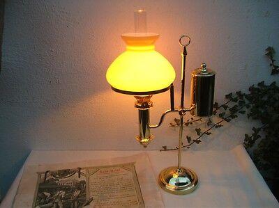 Petroleum Schiebelampe Goethelampe Sturzflasche Öl Lampe antik petrole kerosene