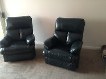 Pair leather recliners Urrbrae Mitcham Area Preview