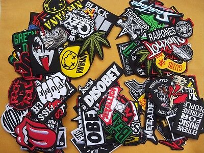 Lot of 25 Wholesale Music Rock Band Metal Punk Iron On Patch toppe toppa Sew #11 - Punk Wholesale